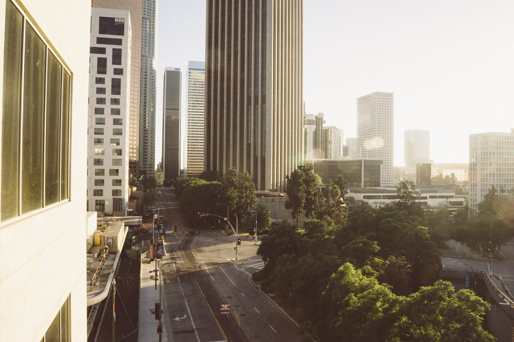 view of the tree-lined streets of LA