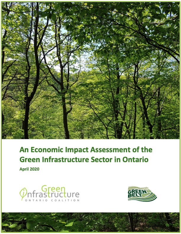 cover page of green infrastructure sector economic impact assessment report