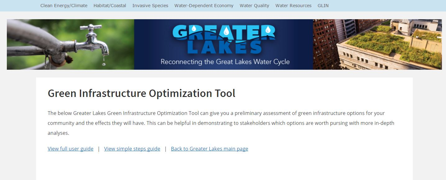 Green Infrastructure Optimization Tool